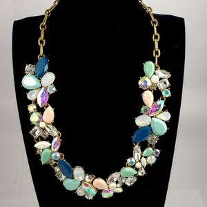 J. Crew Statement Necklace Blue Hues